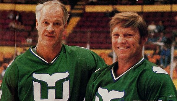 Bobby Hull and Gordie Howe
