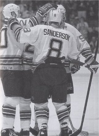 Geoff Sanderson and Glen Wesley