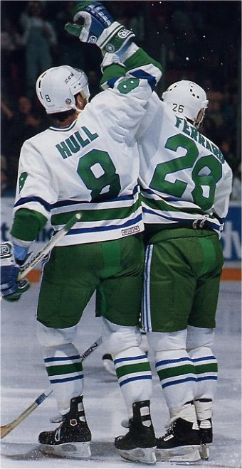 Jody Hull and Ray Ferraro